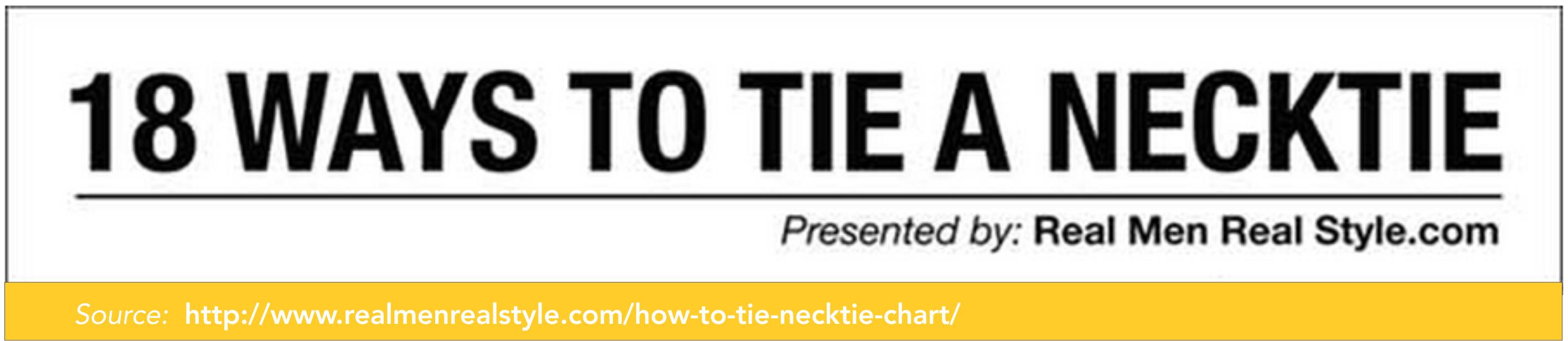 Caption - 18 Ways To Tie A Necktie