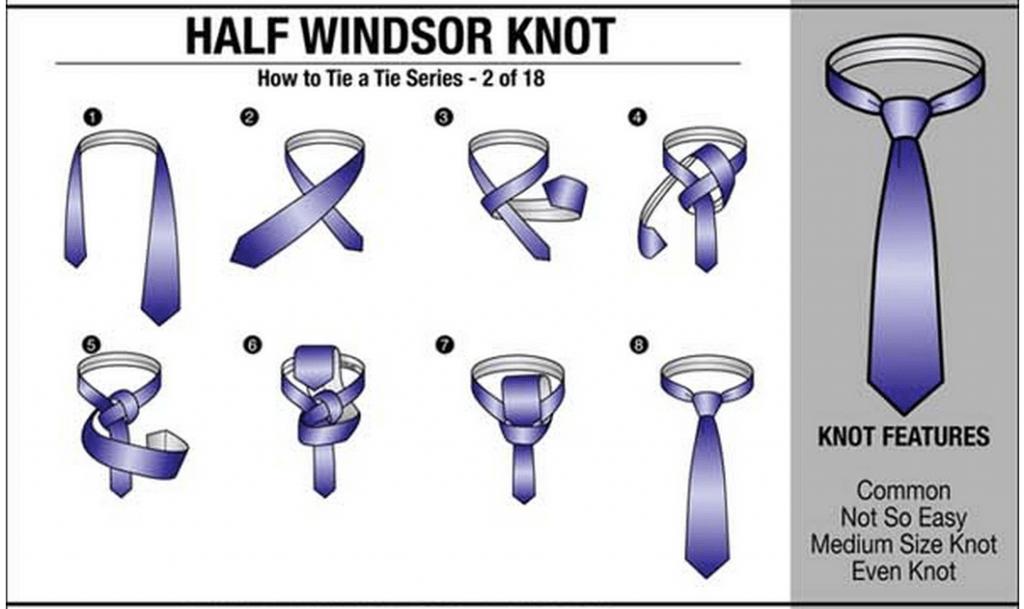 How To Tie A Necktie | Tie Tying Chart | 18 Ways To Tie A ...